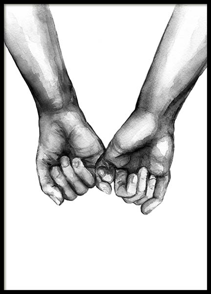 Watercolor Hands No3 Plakat i gruppen Plakater / Illustrationer hos Desenio AB (10203)