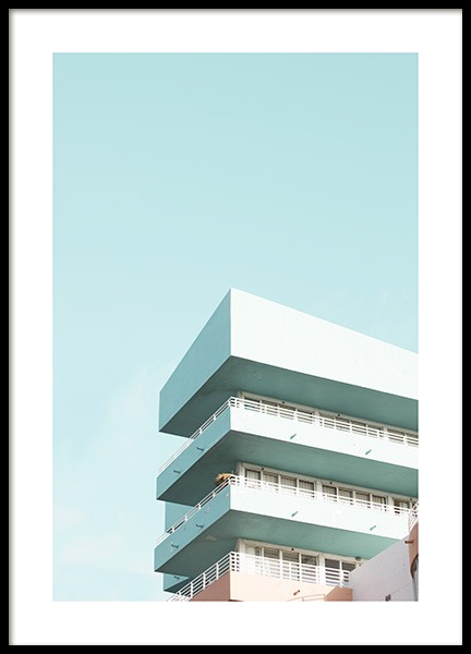 Pastel Balconies Plakat i gruppen Studio Collections / Studio Coast to Coast / Miami hos Desenio AB (10767)