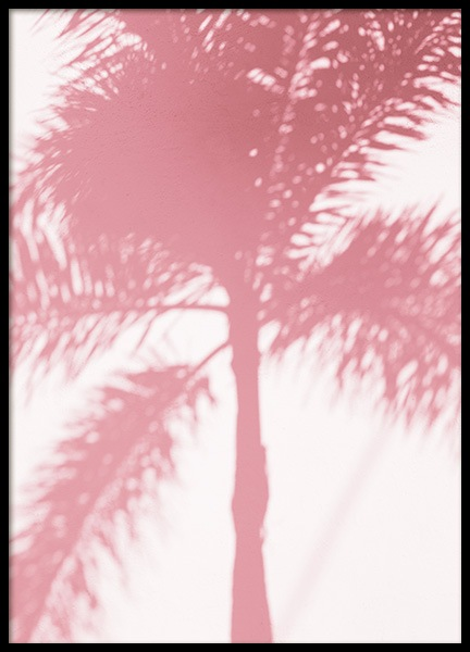 Pink Palm Shadow Plakat i gruppen Studio / Coast to coast / Studio Miami hos Desenio AB (10768)