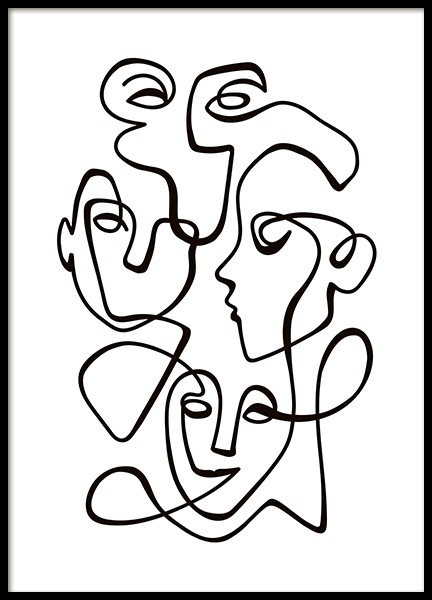 Abstract Line People No2 Plakat i gruppen Plakater / Sort-hvid hos Desenio AB (10841)