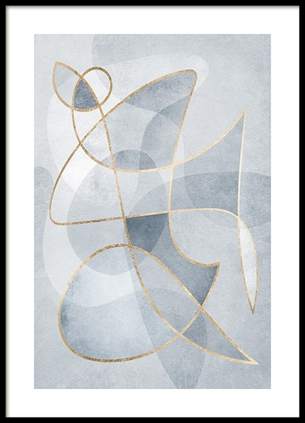 Abstract Blues No1 Plakat i gruppen Plakater / Kunstplakater hos Desenio AB (13120)
