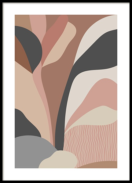 Abstract Foliage No1 Plakat i gruppen Plakater / Grafisk  hos Desenio AB (14027)