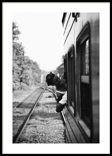 Kiss on the Train Plakat i gruppen Plakater / Fotokunst hos Desenio AB (14091)