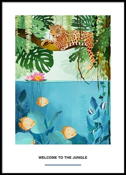 Welcome To The Jungle Plakat i gruppen Plakater / Illustrationer hos Desenio AB (2527)