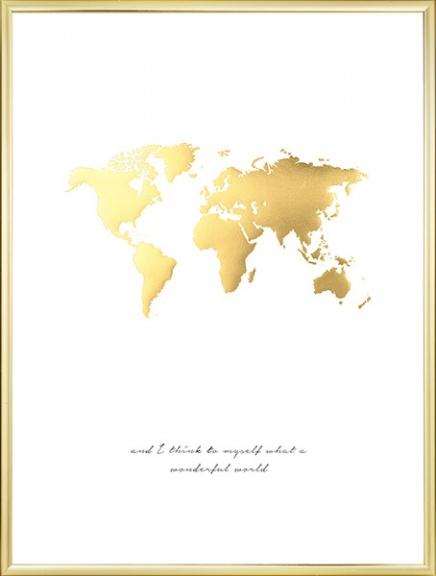 verdenskort guld