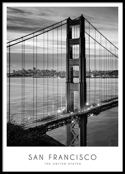 Golden Gate Bridge Plakat i gruppen Plakater / Sort-hvid hos Desenio AB (8920)