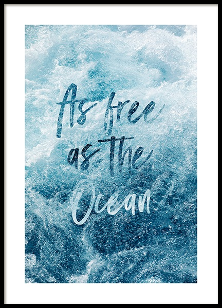 Free as the Ocean Plakat i gruppen Plakater / Fotokunst hos Desenio AB (co0048)