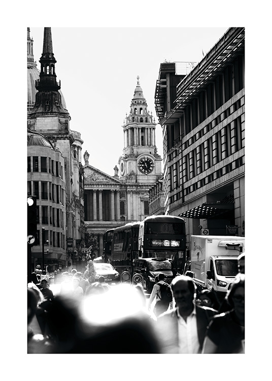 Streets of London Plakat / Sort-hvid hos Desenio AB (11365)