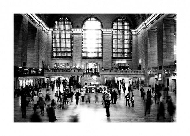 Grand Central Terminal NYC Plakat / Sort-hvid hos Desenio AB (11953)