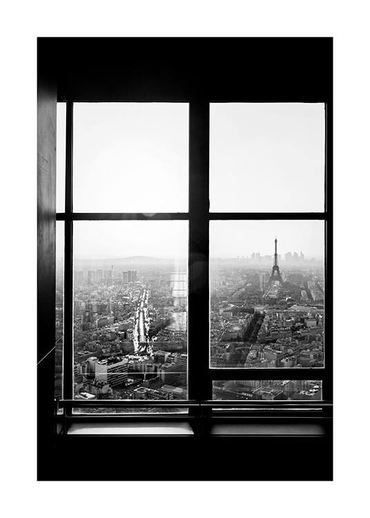 View of Eiffel Tower Plakat / Sort-hvid hos Desenio AB (12295)