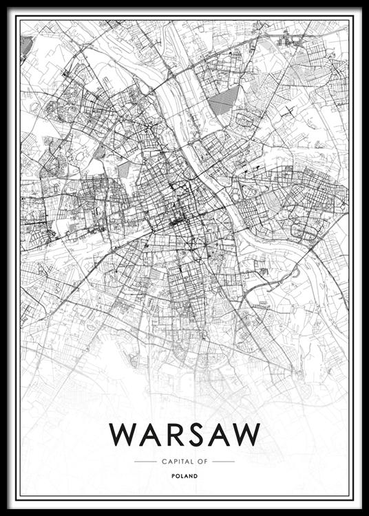 Warsaw Map Plakat