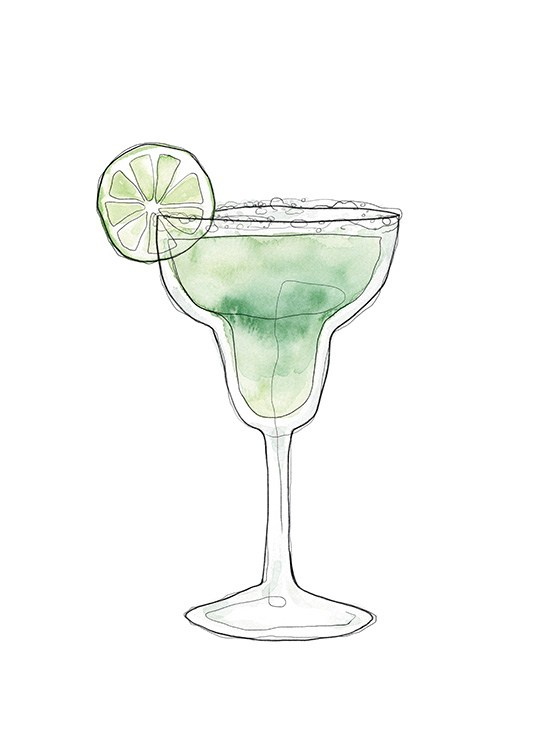 Margarita Illustration Plakat / Vin og cocktails hos Desenio AB (13696)