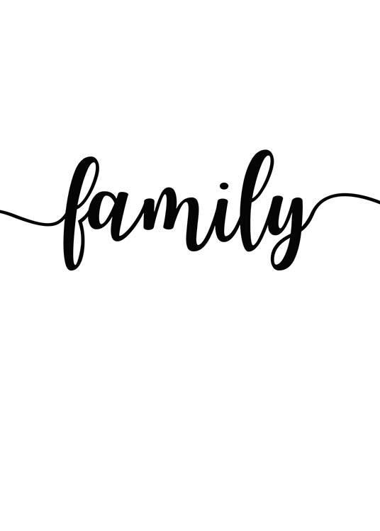 Family plakat