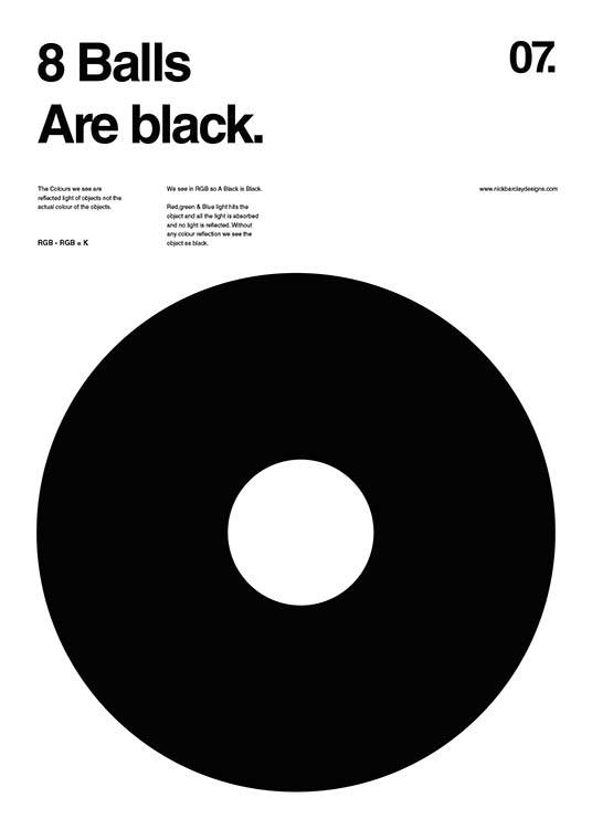 8 Balls Are Black Plakat / Grafisk  hos Desenio AB (2988)