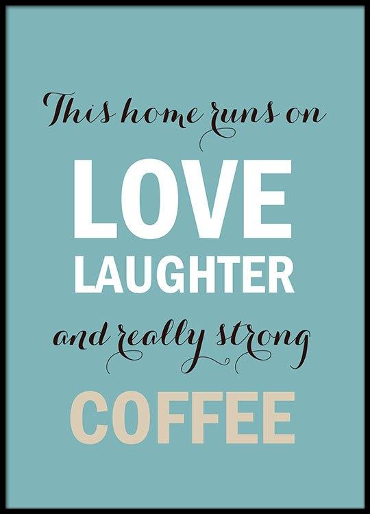 kaffe citater Plakat til køkkemed citat og tekst om kaffe kaffe citater