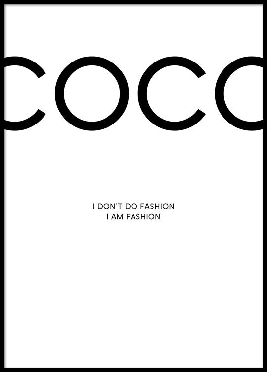 coco chanel citater Coco Chanel plakat | Plakater med fashion citat | Posters online coco chanel citater