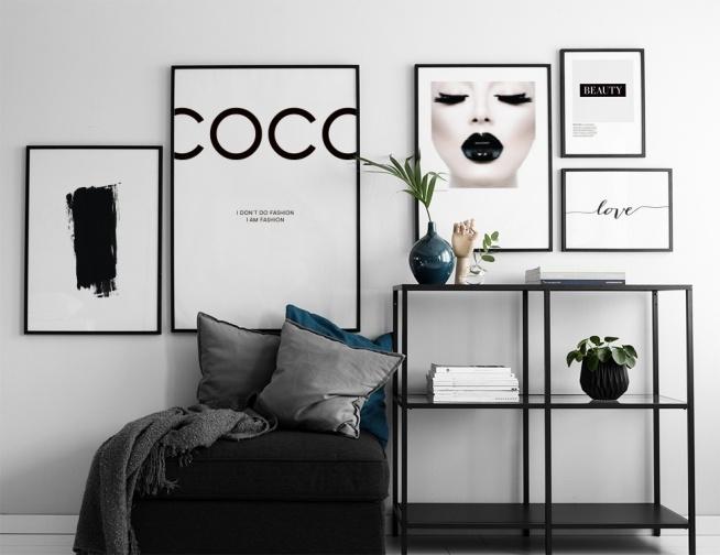 coco chanel plakat plakater med fashion citat posters. Black Bedroom Furniture Sets. Home Design Ideas