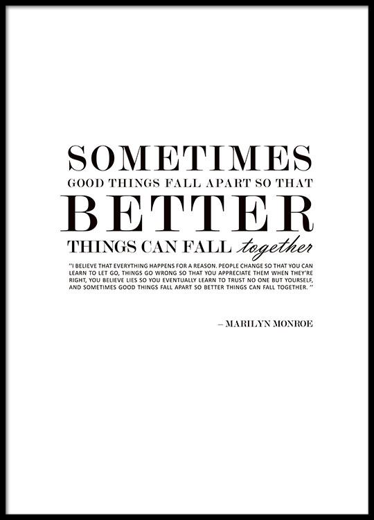 citater af marilyn monroe Plakat med citat fra Marilyn Monroe, design fra MHMP citater af marilyn monroe