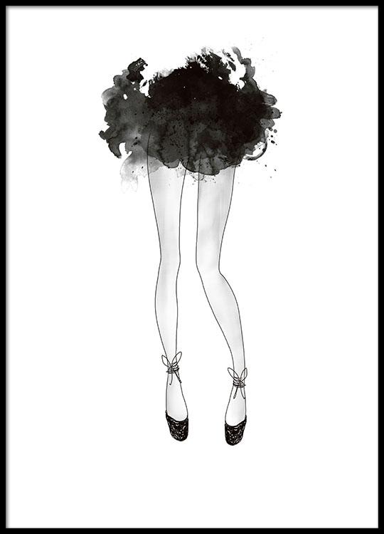 Modeplakat med ballerina plakater og posters med for Bild ballerina