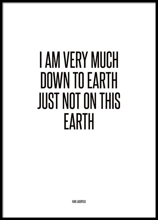 mode citater Citat fra Karl Lagerfeld, modeplakat. mode citater