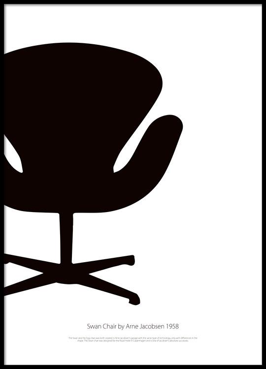 sito web per lo sconto abbigliamento sportivo ad alte prestazioni disegni attraenti Black Swan Chair, Plakat