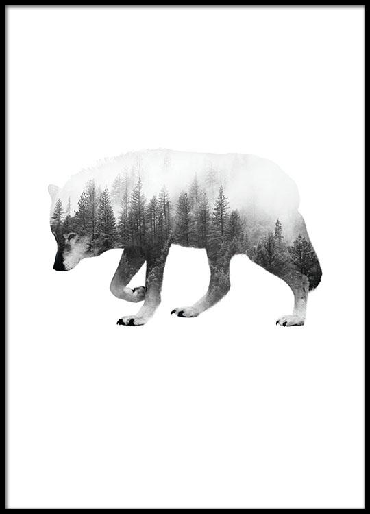 Veldig Plakater til indretning | Flotte plakater med ulve online MP-58