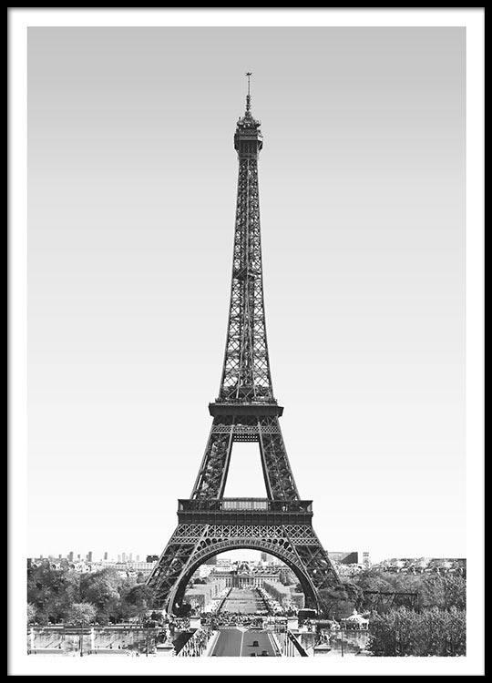 Poster med Eiffeltårnet, Paris | Plakater og posters med byer