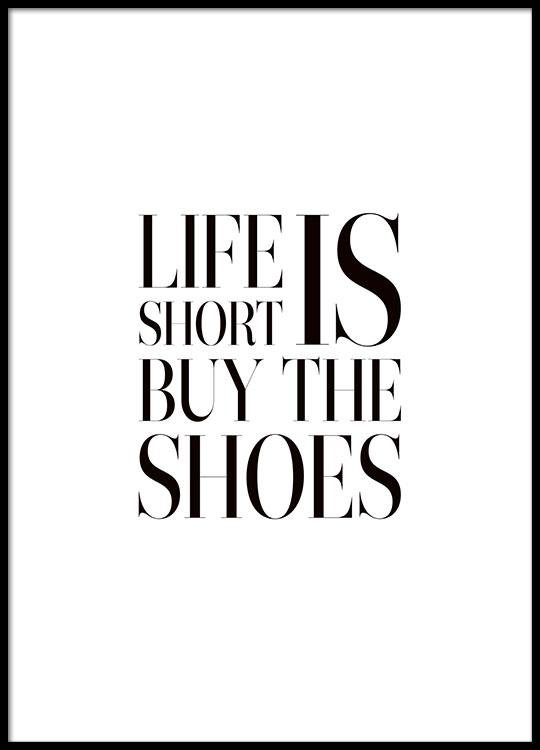citater om sko Plakat med tekst om sko | Modecitater | Desenio citater om sko