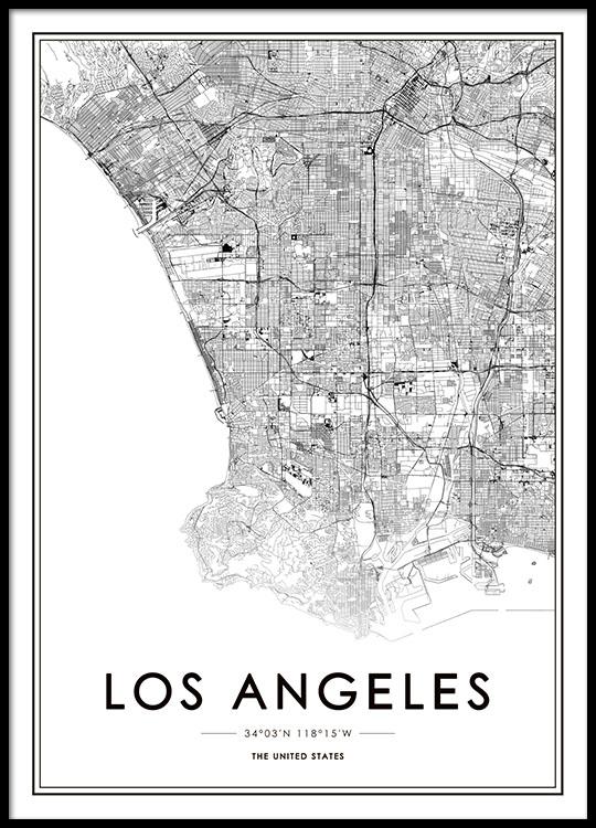 Los Angeles Map Plakat
