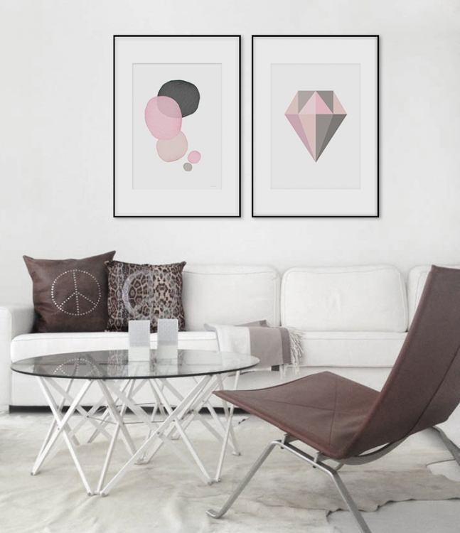 Billedvægge og collage. tips til moderne indretning.