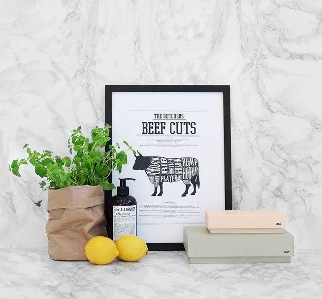Inspiration med plakater til køkkenet, køkkenindretning